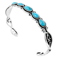 Turquoise Bracelet Sterling Silver B5567-C75