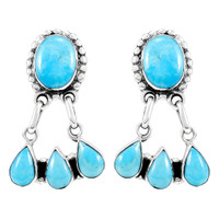 Sterling Silver Earrings Turquoise E1294-C75