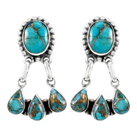 Sterling Silver Earrings Turquoise E1294-C84