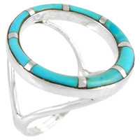 Turquoise Ring Sterling Silver R2282-C05
