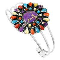 Multi Gemstone Bracelet Sterling Silver B5445-C71