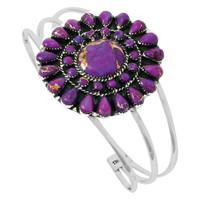 Purple Turquoise Bracelet Sterling Silver B5445-C77