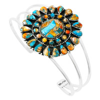 Spiny Turquoise Bracelet Sterling Silver B5445-C89