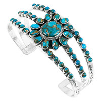 Matrix Turquoise Bracelet Sterling Silver B5499-C84