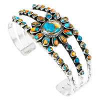 Sterling Silver Bracelet Spiny Turquoise B5499-C89