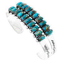 Matrix Turquoise Bracelet Sterling Silver B5500-C84