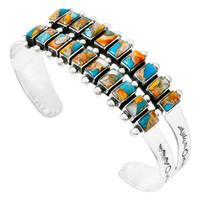 Spiny Turquoise Bracelet Sterling Silver B5500-C89