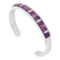 Sterling Silver Bracelet Purple Turquoise B5538-C07
