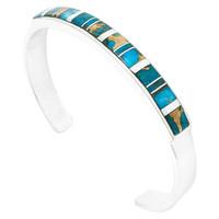 Matrix Turquoise Bracelet Sterling Silver B5538-C84