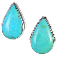 Turquoise Earrings Sterling Silver E1295-C75
