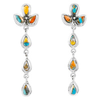 Spiny Turquoise Chandelier Earrings E1204-SM-C89