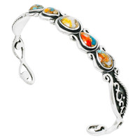 Spiny Turquoise Bracelet Sterling Silver B5567-C89
