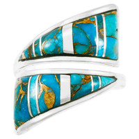 Matrix Turquoise Ring Sterling Silver R2011-C84