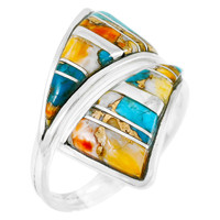 Spiny Turquoise Ring Sterling Silver R2011-C89