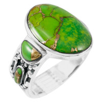 Green Turquoise Ring Sterling Silver R2434-C76