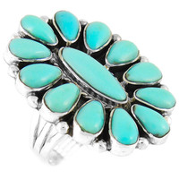 Sterling Silver Ring Turquoise R2041-C75