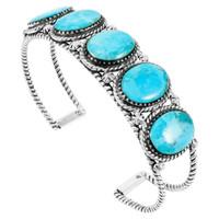Turquoise Bracelet Sterling Silver B5568-C75