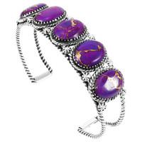 Purple Turquoise Bracelet Sterling Silver B5568-C77