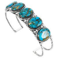 Matrix Turquoise Bracelet Sterling Silver B5568-C84