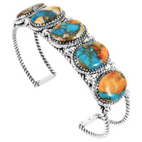 Spiny Turquoise Bracelet Sterling Silver B5568-C89