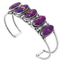 Purple Turquoise Bracelet Sterling Silver B5569-C77