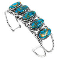 Matrix Turquoise Bracelet Sterling Silver B5569-C84