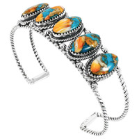 Spiny Turquoise Bracelet Sterling Silver B5569-C89