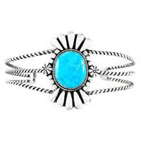 Turquoise Bracelet Sterling Silver B5570-C75