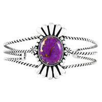 Purple Turquoise Bracelet Sterling Silver B5570-C77