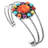 Multi-Gemstone Bracelet Sterling Silver B5572-C71