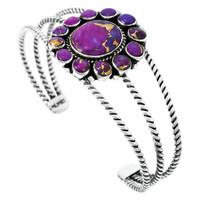 Purple Turquoise Bracelet Sterling Silver B5572-C77