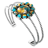Spiny Turquoise Bracelet Sterling Silver B5572-C89