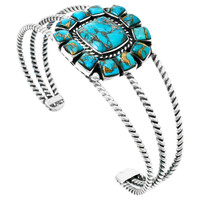 Matrix Turquoise Bracelet Sterling Silver B5573-C84