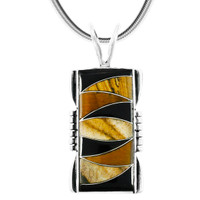 Tiger Eye Pendant Sterling Silver P3044-SM-C33