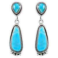 Turquoise Earrings Sterling Silver E1012-C75