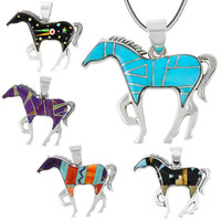 Horse Pendant Turquoise Sterling Silver P3049-SM