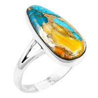Spiny Turquoise Ring Sterling Silver R2027-C89