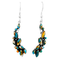 Spiny Turquoise Earrings Sterling Silver E1251-C89