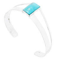 Turquoise Bracelet Sterling Silver B5496-C75