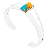 Spiny Turquoise Bracelet Sterling Silver B5496-C89