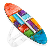 Multi-Gemstone Ring Sterling Silver R2440-C51