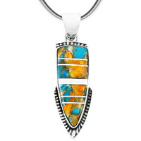 Spiny Turquoise Pendant Sterling Silver Sterling Silver P3273-C89