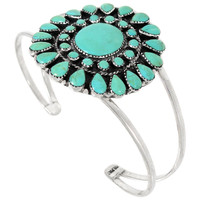 Turquoise Bracelet Sterling Silver B5445-C75