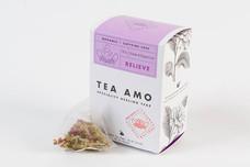 Relieve-Digestion & Sleep. 15 Organic Herbal Pyramid Tea Bags