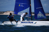 Nacra F18 Infusion tramp rear batten