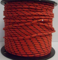 Rope 6mm Spectra - Red with fleck (per metre)