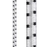 Dyneema 5mm shock cord white with black fleck (per metre)