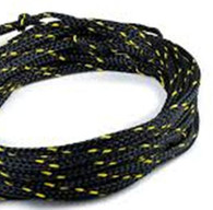 Off cut - 6mm Double braid rope - Black with fleck 17.50m