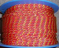 Off cut - 5mm Pre Stretched vectran rope - Red with fleck 15.20m