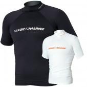 Magic Marine Cube Rash Vest - Black SS Mens